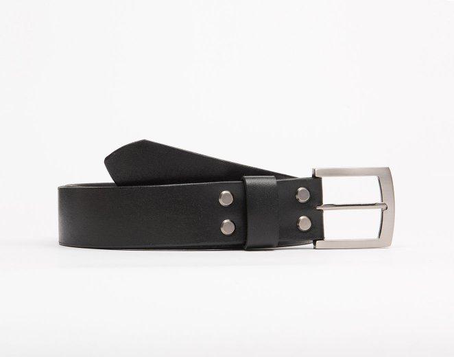 Классический ремень для брюк сделанный вручную
