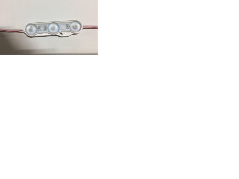 Светодиодный модуль 3Led 1.6W 145 люмен - линзы 160 градусов