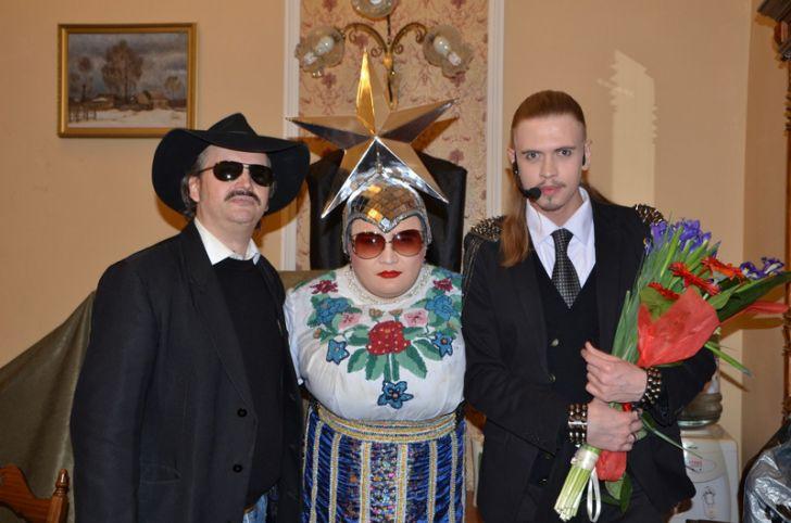 Дуэт Сердючки и Боярского.
